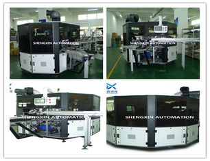 Cina Flat Bed Silk Automatic Screen Printing Machine Turntable Type pemasok