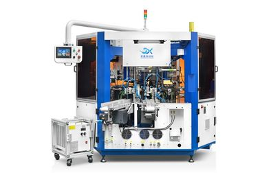 Sepenuhnya Automatic Cosmetic Container Cylindrical Screen Printing Machine Dengan LED UV Curing Device